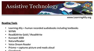 Assistive Technology for LD Students