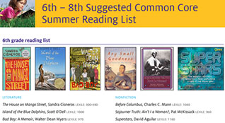 6-8 Summer Reading List