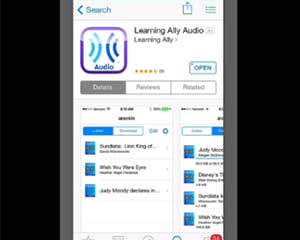 how to use learning ally on ios device