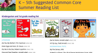 K-5 Summer Reading List