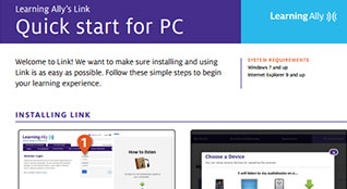 Link Quick Start for PC