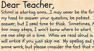 Letter to Teacher PDF