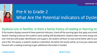 Potential Indicators of Dyslexia PDF